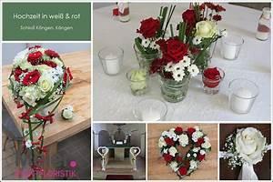Tischdeko Rot Weiß : hochzeit mit brautstrau und tischdeko in rot wei blumenkonzepte f r eure hochzeit ~ Indierocktalk.com Haus und Dekorationen
