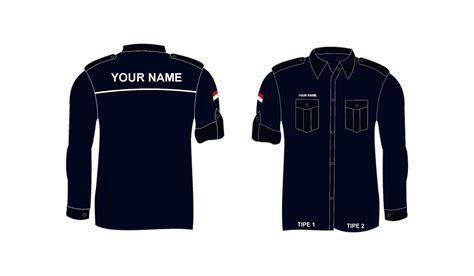 kumpulan desain baju pdh vector desainer