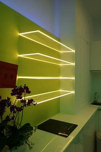 Lighting Ideas QuotGlowing Shelfquot Effect Using LED Strip And