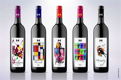 design and wine wine labels inspired by artists on packaging of the