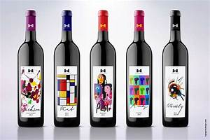 wine labels inspired by famous artists on packaging of the With famous packaging designers