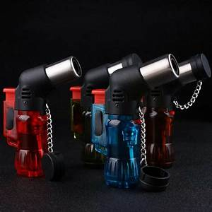 Triple Torch Windproof Jet Flame Refillable Butane Gas