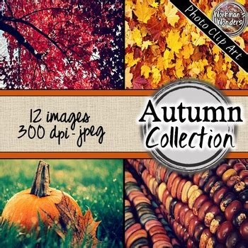 autumn fall digital paper  styled images  workmans