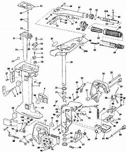 Johnson Midsection Parts For 1984 8hp J8rcrm Outboard Motor