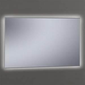 miroir lumineux led salle de bain biseaute 60 a 120 cm khan With miroir led 120 cm