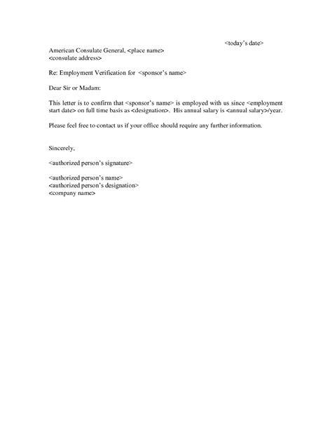 template  employment letter employment