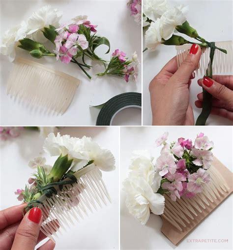 flower crown comb diy tutorial bridal shower activity