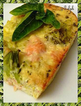 quiche sans pate brocolis recette de quiche sans p 226 te brocolis et saumon