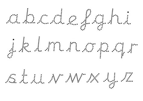 teachers pet editable dotted cursive letter formation