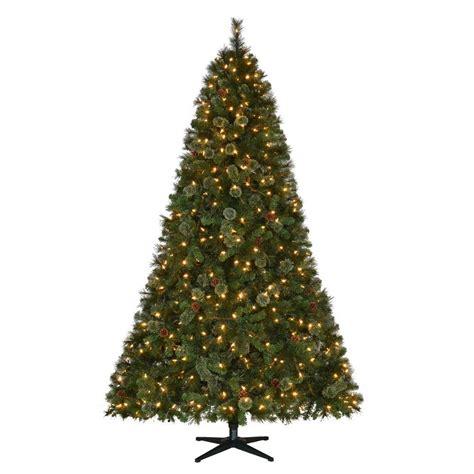 7 5 ft christmas tree with 1000 lights martha stewart living 7 5 ft pre lit led alexander pine