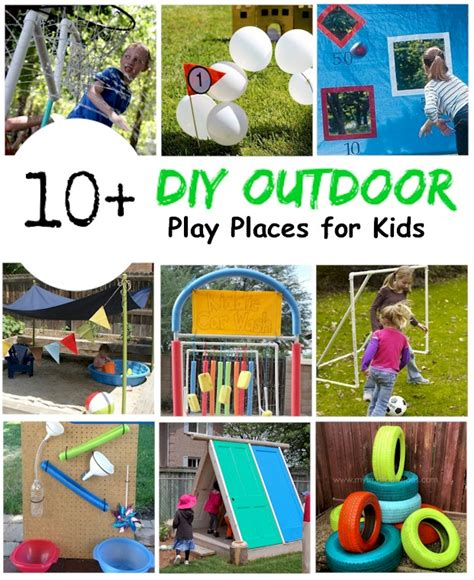 10 + Diy Backyard Play Places For Kids