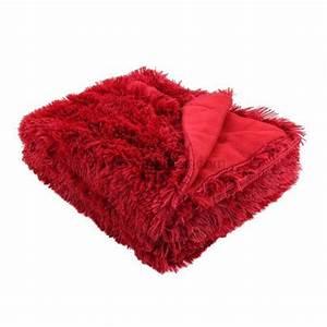 Fausse Fourrure Rouge : plaid fausse fourrure marmotte rouge plaid fausse fourrure eminza ~ Teatrodelosmanantiales.com Idées de Décoration