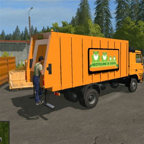 garbage bags garbage mercedes actros v 1 1 0 0 autoload truck