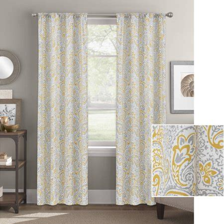 better homes and gardens curtains better homes and gardens scalloped paisley curtain panel