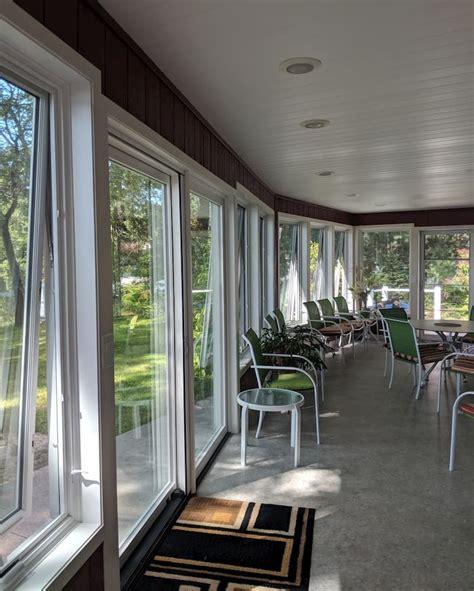 wood awning windows enhance enclosed porch pella western michigan