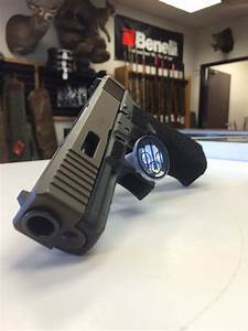 Glock 21 with custom slide cuts and stippling - Yelp
