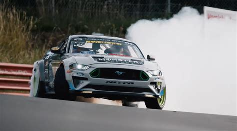 Ford Mustang Drift Nuerburgring by Vaughn Gittin Jr Drifts The Nurburgring In His Mustang Rtr