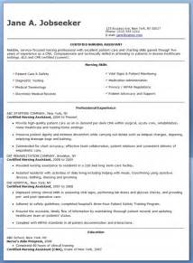 resume certified nursing assistant free sle certified nursing assistant resume resume downloads