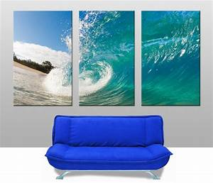 Rolling Waves Triptych Wall Art Australia