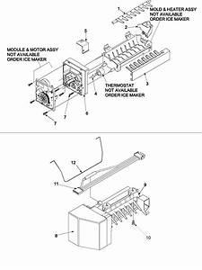 Ice Maker Diagram  U0026 Parts List For Model 59672952200 Kenmore