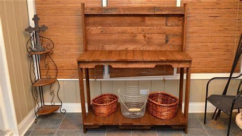 build  garden potting work table      wood