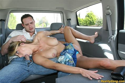 busty milf brenda james gets picked up and gives a sloppy blowjob in the car