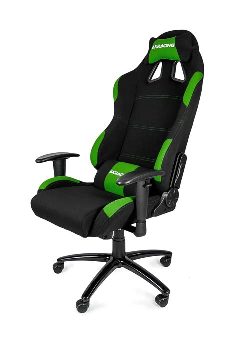 chaise de bureau carrefour akracing gaming chair black green ak k7012 bg