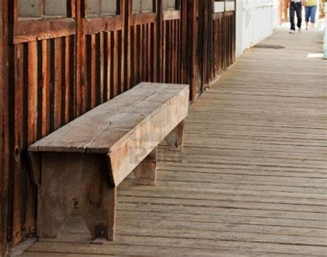 wood bench seat  located    wild west themed