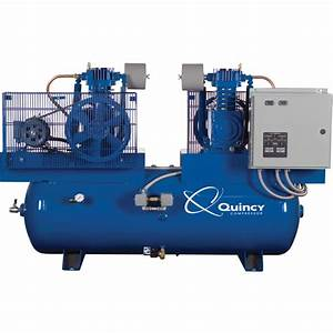Free Shipping  U2014 Quincy Duplex Air Compressor  U2014 5 Hp  460