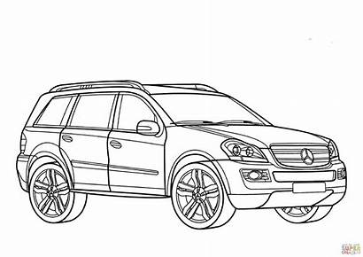 Mercedes Class Gl Coloring Pages Benz Drawing