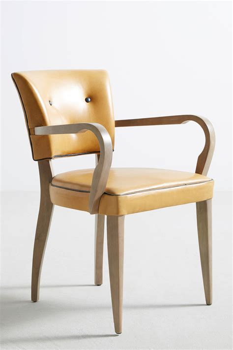 Buy Leather Armchair by Premium Leather Promena Armchair Anthropologie