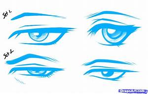 Draw Anime Male Eyes, Step by Step, Drawing Sheets, Added ...