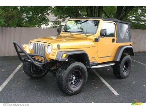 jeep metallic 2003 inca gold metallic jeep wrangler sport 4x4 17898443
