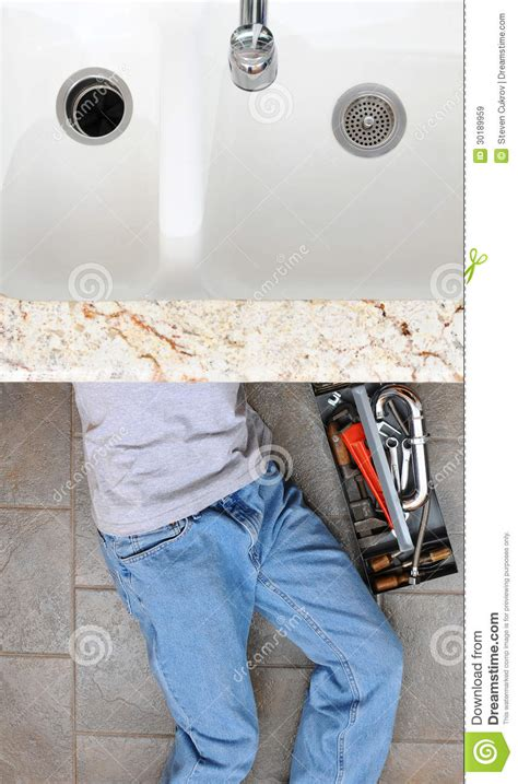 plumber  sink royalty  stock images image