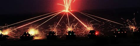 Indian Army BMPs firing at night-Exercise Shatrujeet ...