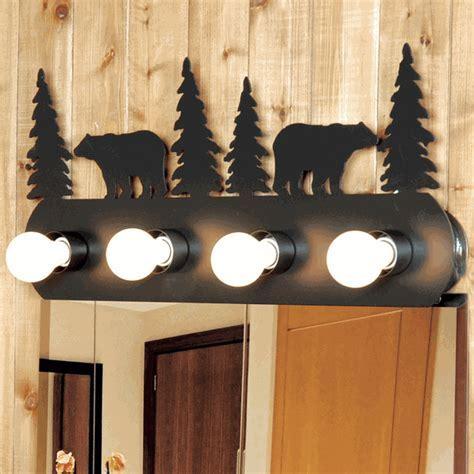 Rustic Bear Vanity Light Fixture (4 Light)