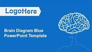 Brain Diagram Blue Powerpoint Template Download