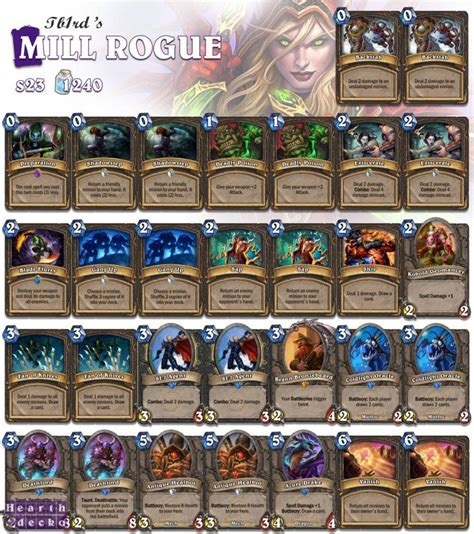 Hearthstone Rogue Deck Budget by 1000 Ideas About Hearthstone Rogue On The