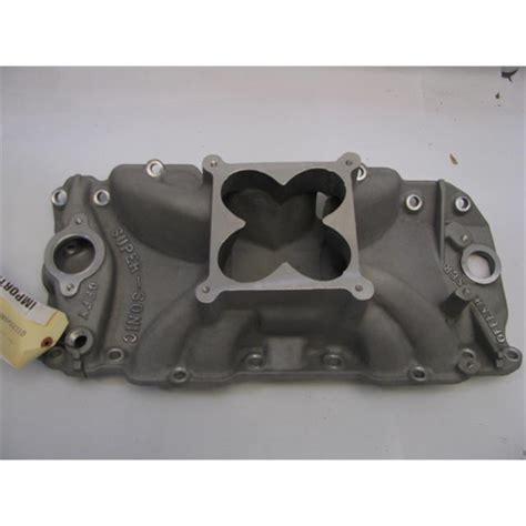 gs offenhauser chevy 396 454 supersonic intake manifold for holley 4500 ebay
