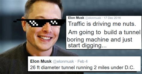 Supervillain Elon Musk Gets Sick of Traffic and Jokes