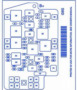 Pontiac Aztek 2004 Fuse Box  Block Circuit Breaker Diagram