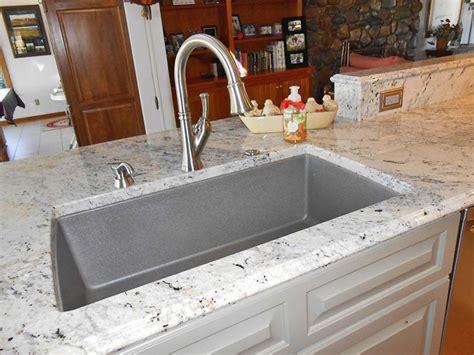 grey granite kitchen sink granite countertop undermount sink how to clean 4065