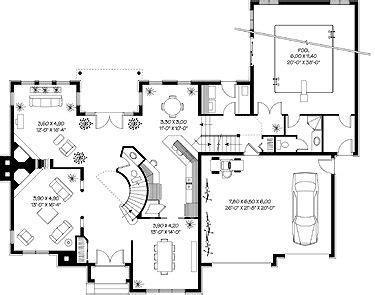 House Plan  Indoor Pool Swimming Pool House Pool