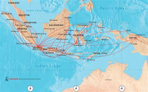 garuda indonesia route map domestic routes