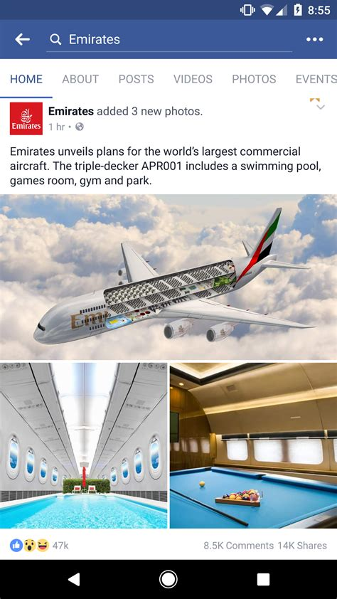 plane für pool emirates unveils decker aircfaft including swimming pool room and park how