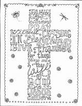 Coloring Scripture Cross Adult Pages Credit Larger sketch template