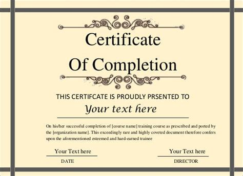 printable certificate template  adobe illustrator