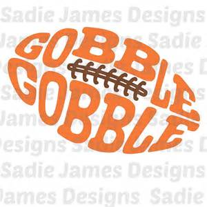 silhouette designer edition gobble gobble football svg eps and silhouette studio cutting