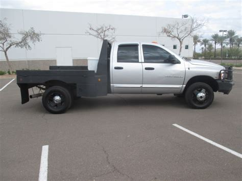 Used Dodge Ram 3500 Diesel For Sale by Used 2004 Dodge Ram 3500 Flatbed Truck For Sale In Az 2308