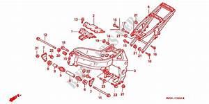 Frame For Honda Cbr 919 Rr Fireblade 1997   Honda Motorcycles  U0026 Atvs Genuine Spare Parts Catalog